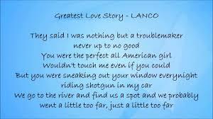 Greatest Love Story - LANCO Lyrics - YouTube