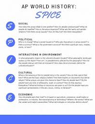 Spice Chart Ap World History Answers Apwh Spice Chart By Anne Race Teachers Pay Teachers