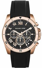 men s michael kors brecken black chronograph watch mk8436