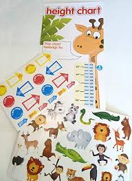 Amazon Com Childrens Height Chart With Over 40 Stickers