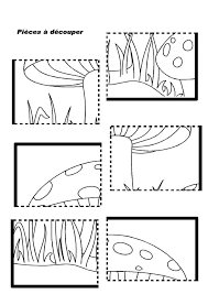 mushroom puzzle worksheet | Crafts and Worksheets for Preschool ...