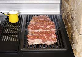 grilling steaks on an electric grill permanently installed indoor grills can be gas