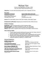 Entry Level Accounting Resume Sample Free Resume Example And