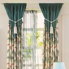 Leaf Patterns Velvet Cotton Velvet Curtains For Home