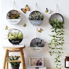 macrame hanging plant holder hexagon