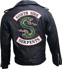 riverdale southside serpents gang mens biker leather jacket