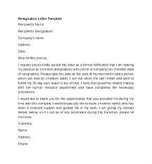 Sample Professional Resignation Letter Sample Of Professional Resignation Letter How To Write A Formal