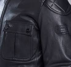 barbour clothing hr16180 q36 b intl triumph locking leather jacket black mens barbour