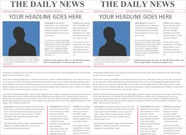 Microsoft Word Newspaper Template 7 Classroom Newspaper Templates Free Sample Example