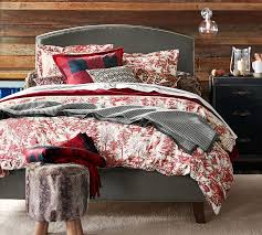 alpine toile duvet cover sham pottery barn