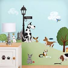 Small Picture Paws Park Wall Sticker Kit Contemporary Wall Decals by My