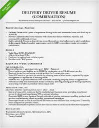 Courier Resume Courier Driver Resume Sample Truck Driver Resume Sample And Tips