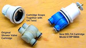 delta shower faucet cartridge old and new delta shower valve cartridge part delta shower faucet repair