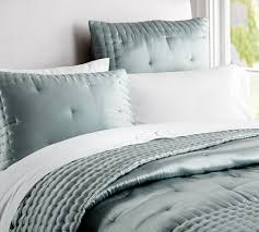 Silk Bedspreads Quilts - Cbaarch.com & Silk Tufted Quilt Shams Pottery Barn Adamdwight.com