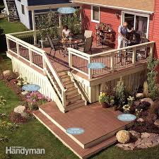 an old deck with a sound structure doesn t have to be torn down you can remove the worn out decking and railing and then replace it with new