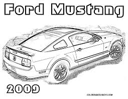 Colorinford Mustang Free Coloringg Pages Yahoo