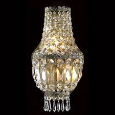 metropolitan three light antique bronze finish with clear crystals wall sconce
