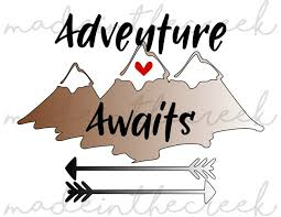 Free mountain peak icons in wide variety of styles like line, solid, flat, colored outline, hand drawn and many more such styles. Adventure Awaits Mountains Arrows Quotes Sayings Apparel Design Cut File Svg Png Pdf For Silhouette Cricut 78398 Cut Files Design Bundles