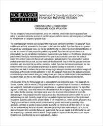 Personal Statement Grad School Samples Free 31 Personal Statement Examples Samples In Pdf