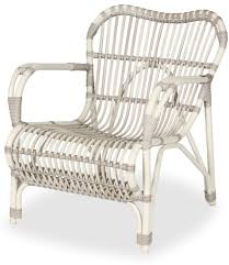 lazy lucy white wicker outdoor armchair