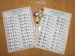 Numbers 0-20, Addition, Subtraction Worksheets