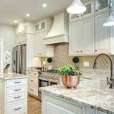 kitchen backsplash white cabinets brown countertop. Backsplash For White Kitchen Cabinets That Arabesque Is Gorgeous Tan . Brown Countertop