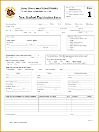 Student Registration Form Template Free Download Class Registration Form Template Word Rome Fontanacountryinn Com