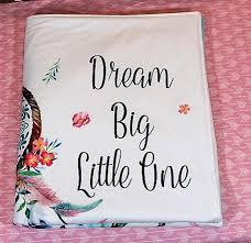 Dream Catcher Blankets Dream catcher Baby Blanket Dream Big Little One 74