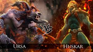 dota 2 huskar vs ursa one click battle youtube