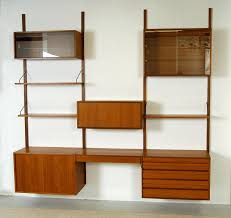 wall shelving units teak wall