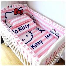 girl bedding set baby bed set per cotton beautiful baby bedding set pink striped cartoon cat