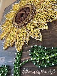 Cute Sunflower String Art Tutorial
