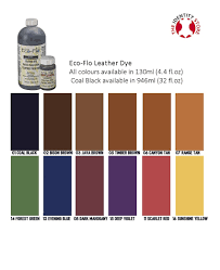 Eco Flo Dye Color Chart Eco Flo Leather Dye Identity Leather Craft