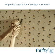 repairing drywall after wallpaper