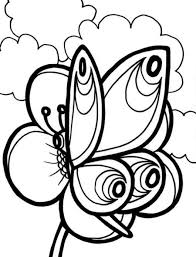 Butterfly And Flower Coloring Pages For Kids Animal Coloring Pages