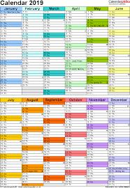 Template Monthly Calendar Calendar 2019 Uk 16 Free Printable Pdf Templates