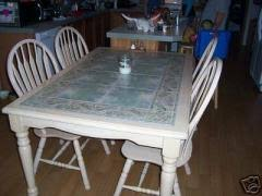 Kitchen Table With Tile Top
