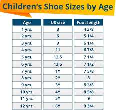 Big Kids Shoe Size Chart How To Measure Kids Feet Welcome To Sell A Shoe Com