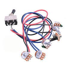 sale electric guitar wiring harness kit 2v2t 3 way switch for guitar electric guitar wiring harness image is loading sale electric guitar wiring harness kit 2v2t 3