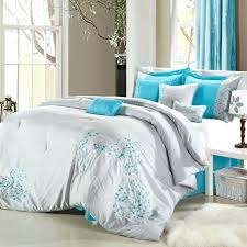 space living flower 8 piece grey comforter set view all with teal and sets inspirations bedding