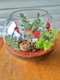 miniature terrarium fairy garden finished in a large