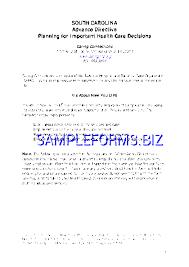 Sample Advance Directive Form Adorable Preview PDF Washington Advance Health Care Directive Form 48