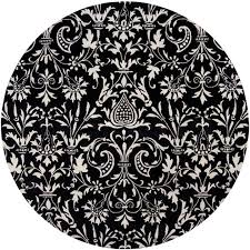 natura winter white jet black round rug in victorian pattern inside and inspirations 13