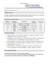 Mba Resume Format For Freshers Pdf Earpod Co