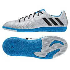 adidas indoor soccer shoes youth. adidas messi 16.3 youth indoor soccer shoes (silver metallic/core black/shock blue) r