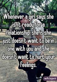 Girl doesn t want a relationship
