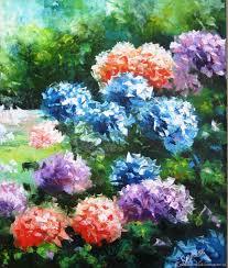 flower paintings handmade livemaster handmade palette knife oil painting on canvas