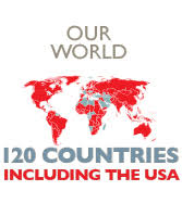 save the children logo. our world, 120 countries including the usa save children logo