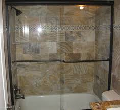semi frameless tub slider oil rub bronze hardware clear glass