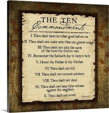 commandments wall art